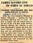 James DeVore One of First in Tokyo