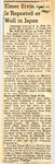 Elmer Ervin Is Reported as Well in Japan 9-21-1945 by Newton Illinois Public Library