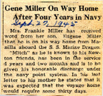 Gene Miller On Way Home After Four Years in Navy 9-27-1945 by Newton Illinois Public Library