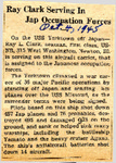 Ray Clark Serving In Jap Occupation Forces 10-4-1945 by Newton Illinois Public Library