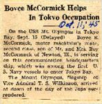 Boyce McCormick Helps In Tokyo Occupation 10-11-1945