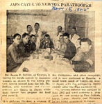 Japs Cater to Newton Paratrooper (PFC James N. DeVore) 11-15-1945