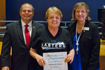 Glenna Gobert, 10 years of service by Beverly Cruse