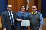 Jay Gatrell, V.P. of Academic Affairs, with Lauri J. DeRuiter-Willems, 5 Years of Service by Beverly Cruse