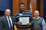 Jay Gatrell, V.P. of Academic Affairs, with B. James Griffin, 5 Years of Service by Beverly Cruse