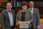 Renee Stroud Witt (25 Years of Service), with President Glassman and Jay Gatrell, Vice President for Academic Affairs by Beverly Cruse