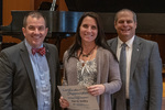 Kari Dailey (20 Years of Service), with President Glassman and Jay Gatrell, Vice President for Academic Affairs by Beverly Cruse
