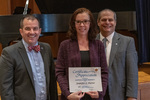 Jennifer L. Porter (20 Years of Service), with President Glassman and Jay Gatrell, Vice President for Academic Affairs by Beverly Cruse
