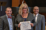 Paula J. Davis (15 Years of Service), with President Glassman and Jay Gatrell, Vice President for Academic Affairs by Beverly Cruse