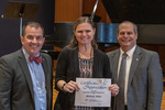 Melissa Ames (10 Years of Service), with President Glassman and Jay Gatrell, Vice President for Academic Affairs by Beverly Cruse