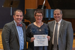 Jeannie Ludlow (10 Years of Service), with President Glassman and Jay Gatrell, Vice President for Academic Affairs by Beverly Cruse
