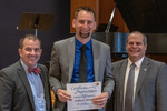 Joshua L. Norman (10 Years of Service), with President Glassman and Jay Gatrell, Vice President for Academic Affairs by Beverly Cruse