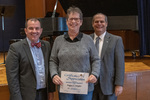 Peggy L. Snyder (10 Years of Service), with President Glassman and Jay Gatrell, Vice President for Academic Affairs by Beverly Cruse