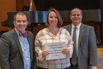 Kathryn A. Havercroft (5 Years of Service), with President Glassman and Jay Gatrell, Vice President for Academic Affairs by Beverly Cruse