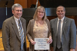 Donna M. Noffke (20 Years of Service), with President Glassman and Paul A. McCann, Vice President for Business Affairs by Beverly Cruse