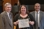 Kristina M. Keck (15 Years of Service), with President Glassman and Paul A. McCann, Vice President for Business Affairs by Beverly Cruse